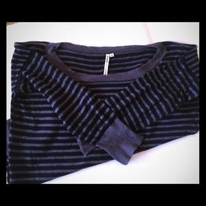 YOUNG FABULOUS & BROKE stripe sweater S
